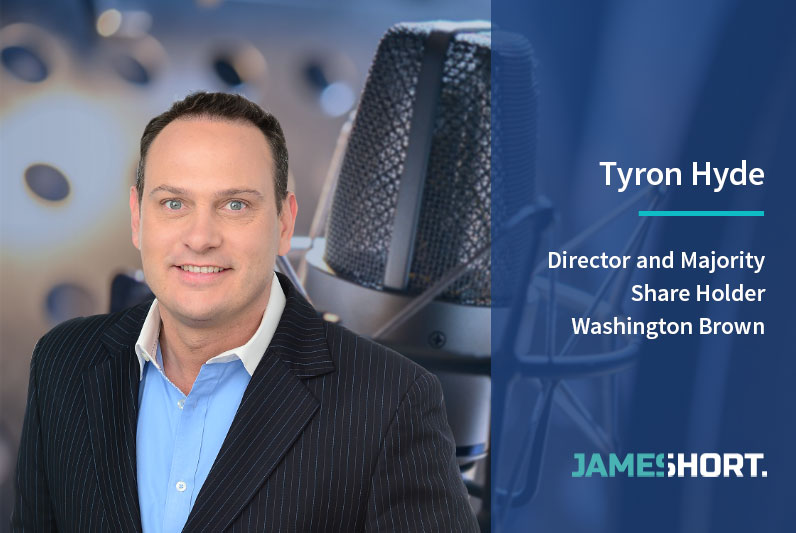 Tyron Hyde – Director and Majority Share Holder, Washington Brown